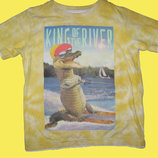 Яркая футболка с крокодилом на 3-4 года,NUTMEG