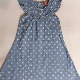 Легкое платьеце джинс Lotta&Lassi.Финляндия.р.128
