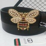 Женский кожаный ремень Gucci, Гуччи Пчела