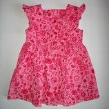 Вельветовое платье M&S 9-12 мес, 76 см