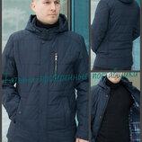 50-58 Демисезонная стеганная мужская куртка. Куртка мужская осень. весна. Куртка с капюшоном