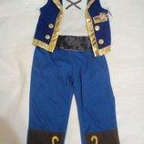 Карнавальный новогодний костюм джека воробья /пираты карибского моря/disney на 2-3года