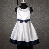 Нарядное атласное платье American Princess для девочки 7 лет