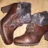 6.5-26.5 кожа зима ботинки Gabor
