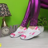 хуарачи белые с розовыми вставками очень легкие для спорта бега прогулок Распродажа 37 и 41р