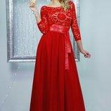 Вечернее выпускное платье в пол длинное 4 цвета