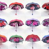 Шикарный крепкий женский зонт двойная ткань Fiaba. Невероятно красивый