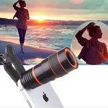 Объектив-Телескоп для камеры мобильного телефона 8х,мобильная камера