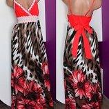 Платье -сарафан,макси длина, 44-46р,коттон