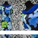 Нежное женское платье Полированный стрейч-коттон 50, 52, 54