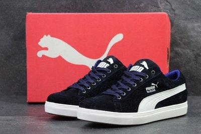 size 40 163bc f1e32 Кроссовки замша Puma Suede dark blue