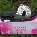 Шлепанцы женские Violeta Silver 36 - 40 р , лето