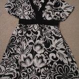 Платье невесомое с цветами М