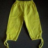 Желтые бриджи капри велосипедки велотреки шорты