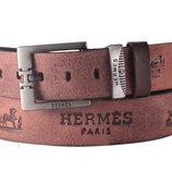 Кожаный мужской ремень Hermes, Турция