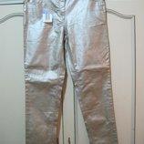 Новые серебряные джинсы 44 размера