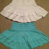 Новые Хлопковые юбки рюши 12-13 лет или XS S можно близняшкам