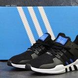 Adidas Equipment ADV/91-17 кроссовки мужские демисезонные чёрно белые с синим 5261