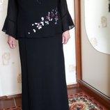 Вечернее нарядное платье в пол, макси, праздничное черное платье, статусное 720df90a75d