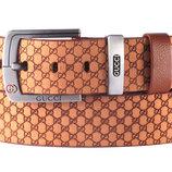 Кожаный мужской ремень Gucci, Турция