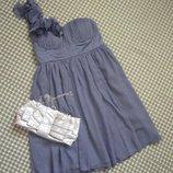 Выпускное вечернее шифоновое платье лавандового цвета new look m-l