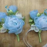 Бутоньерка свадебная, на першу сповідь, причастя, украшение для свечи