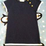 Платье сарафан Нm на 2-4 года темно синее белая полоска