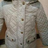 стеганая куртка F&F на девочку 3-4года