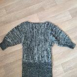 Платье вязанное S/M на наш 44-46р в составе есть шерсть