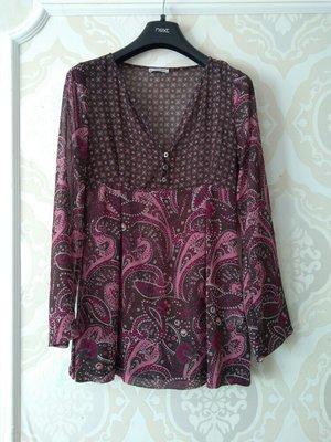Размер 8 Красивая фирменная шифоновая блузка блуза