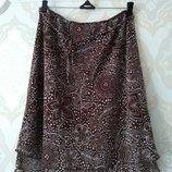 Размер М Красивая фирменная шифоновая летняя юбка
