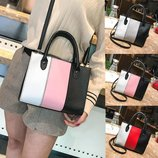 Модная женская сумка со стильными вставками В Наличии