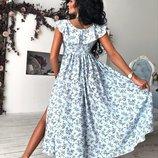 платье «Наташа Ростова» С одним вырезом от талии, Декольте V- образное с воланами