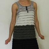 стильный летний легкий сарафан с воланами рюшами S M