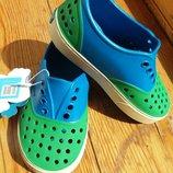Native новые кроксы аквашузы слипоны кроссовки. Оригинал 20 25 размеры