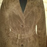 коричнева курточка замша М leather millenium