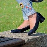 Стильные туфли из натуральной кожи на каблуке 4см Производитель Украина Не Китай