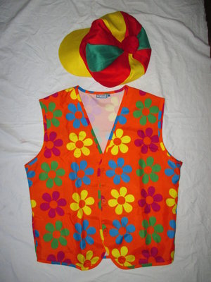 Клоун костюм карнавальный жилет М