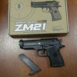 Пистолет утяжеленный металлический ZM21 Cyma игрушечное оружие