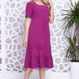 Платье женское батал, 52-60р., 2 расцветки