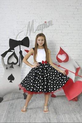 8b667cfda48 Платье нарядное горох для девочки р.116-122  690 грн - нарядные ...
