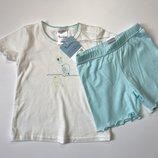 Детская пижама, домашний костюм Impidimpi на девочку 2-6, 6-12 мес, рост 62-68, 74-80