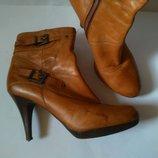 barratts стильные кожаные ботинки ботильоны на шпильке рр 41 стелька 27см