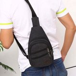 Мужская сумка рюкзак через плече/ сумка банака через плече. 3 цвета.
