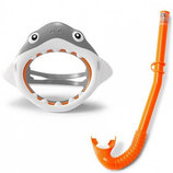 набор маска трубка 3-8 лет акула