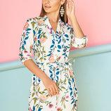 Легкое летнее платье-рубашка 44-54р