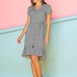 Стильное Хлопковое платье-рубашка с удлиненной спинкой 44-50р