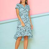 Легкое Хлопковое платье-рубашка с удлиненной спинкой 44-50р