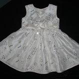 красивенное нарядное платье Baby Boutique 12-18 мес состояние отл.