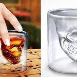 Оригинальный стакан в виде черепа, 3D стакан, бокал для виски, Стакан Череп трехмерный Doom